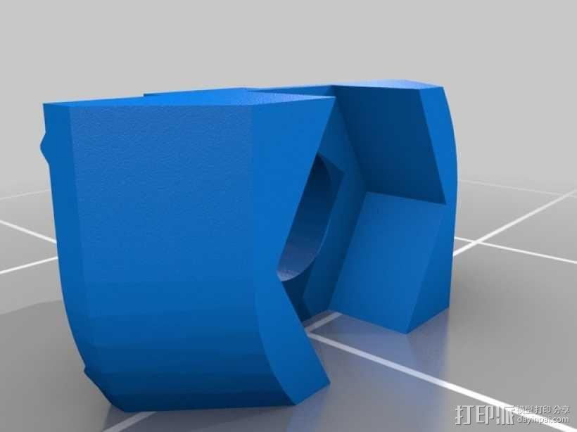 M3螺母 T槽口 3D模型  图1