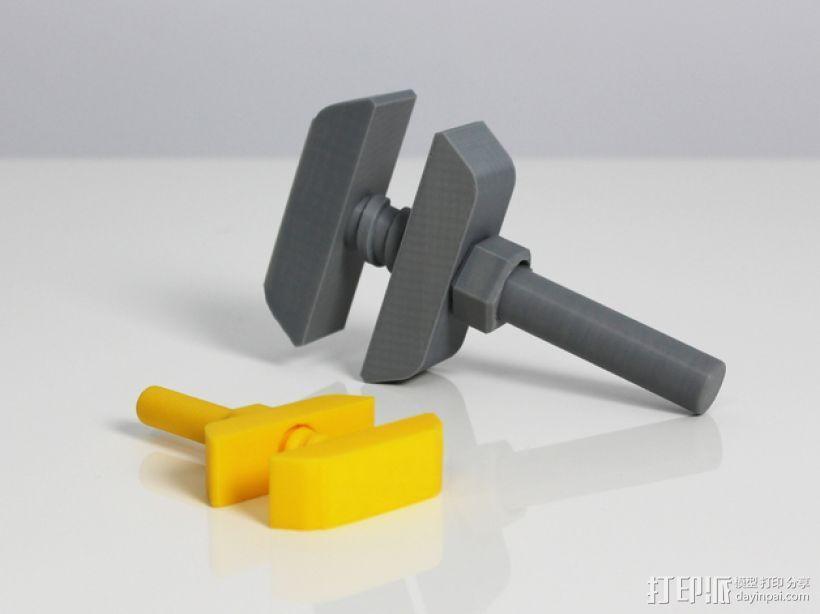 老式扳手 3D模型  图2