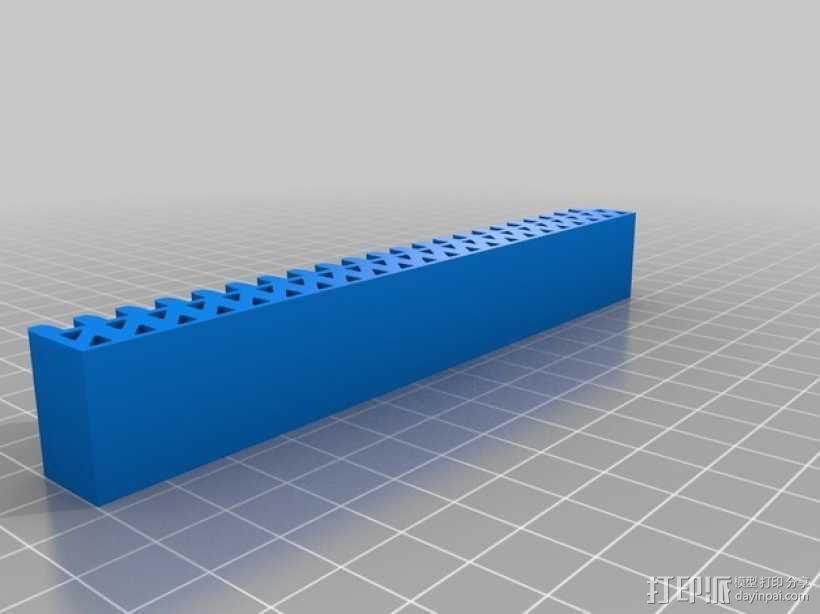 小齿轮 齿条 3D模型  图2