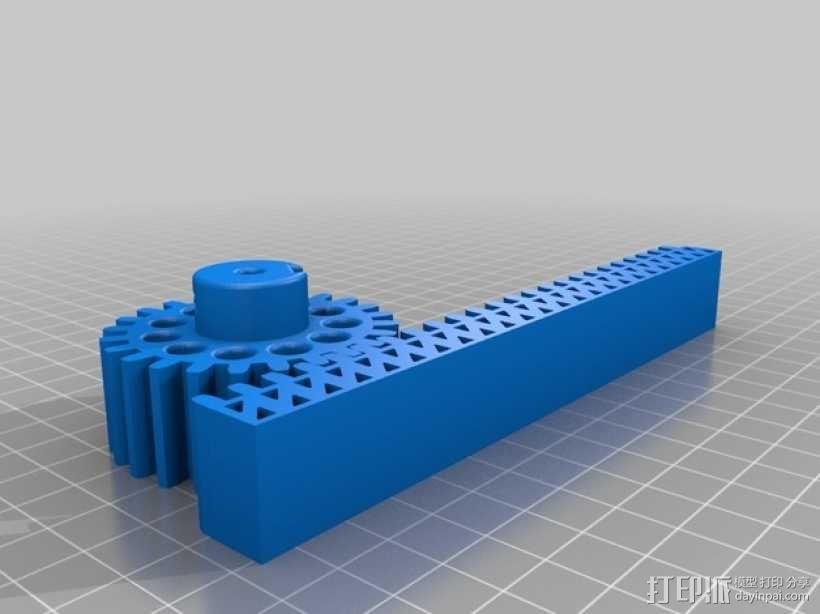 小齿轮 齿条 3D模型  图3
