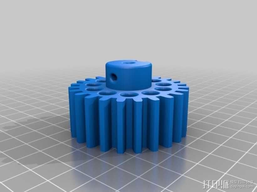 小齿轮 齿条 3D模型  图4