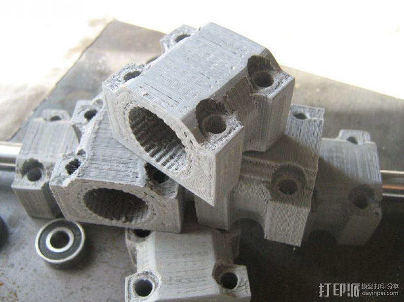 LM12UU滚珠轴承零部件 3D模型  图1