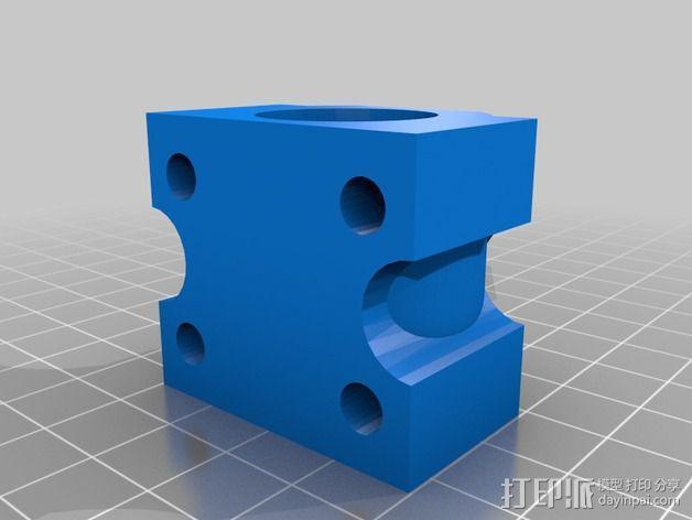 LM12UU滚珠轴承零部件 3D模型  图2