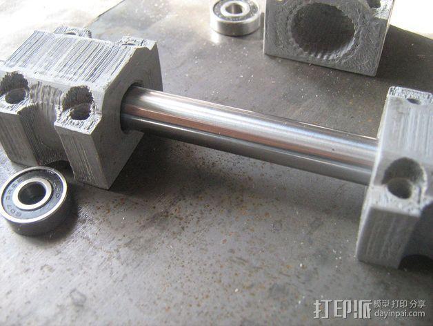LM12UU滚珠轴承零部件 3D模型  图5