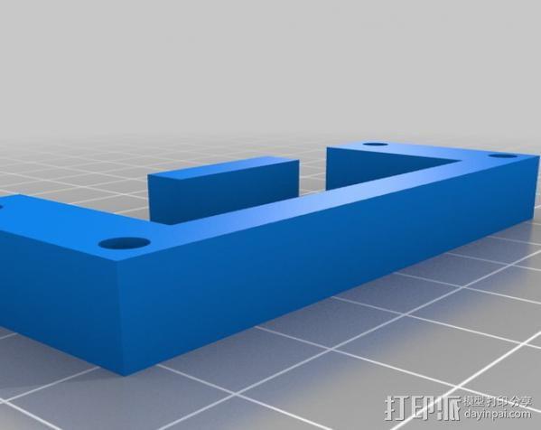 Bosch GSR电动起子 电池底座 3D模型  图2