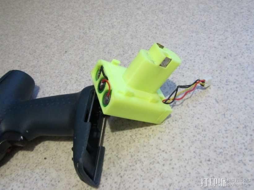 Bosch GSR电动起子 电池底座 3D模型  图1