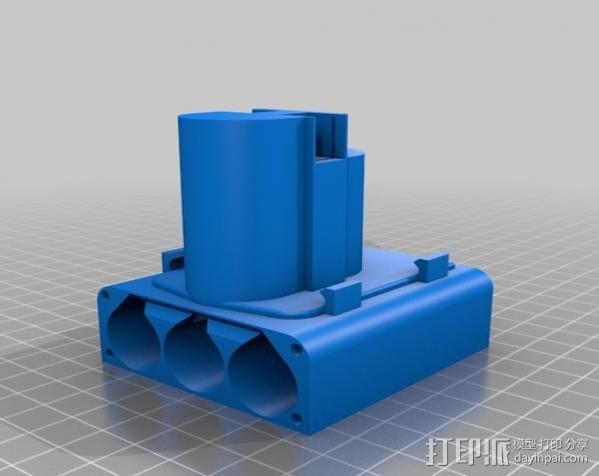 Bosch GSR电动起子 电池底座 3D模型  图3