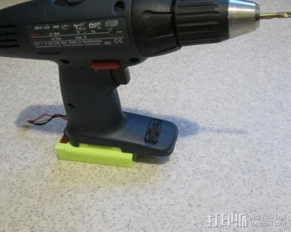 Bosch GSR电动起子 电池底座 3D模型  图4