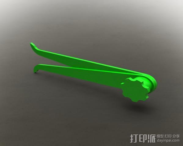 简易卡尺 3D模型  图1