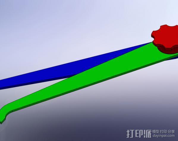 简易卡尺 3D模型  图3