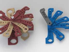 螺纹量规 套件 3D模型