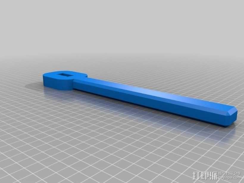 气量计控制阀扳手 3D模型  图2