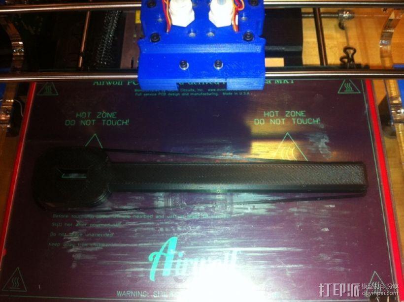 气量计控制阀扳手 3D模型  图4