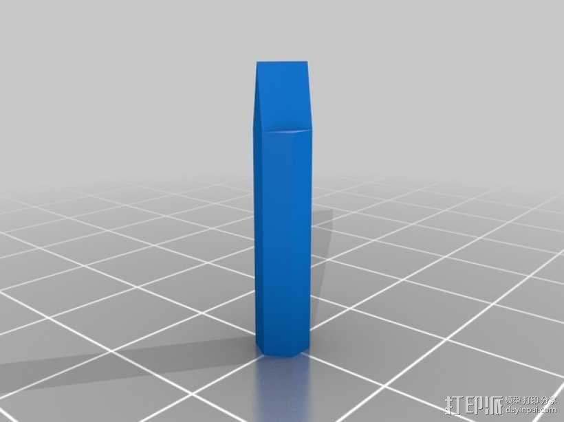 4毫米螺丝刀头 3D模型  图2