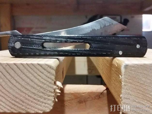 Higonokami 刀柄 3D模型  图1