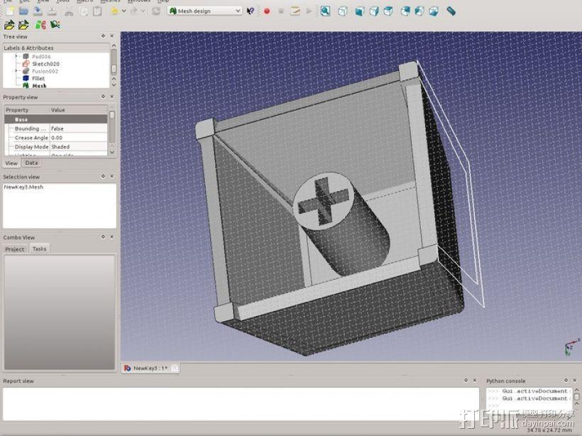 键盘 按键键帽 3D模型  图2