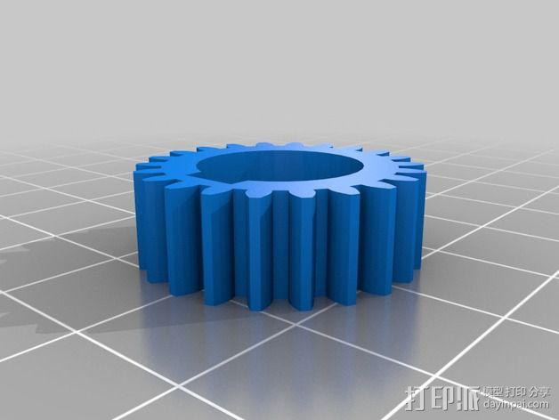 交换齿轮 3D模型  图2
