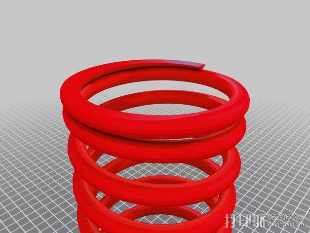 螺旋弹簧 3D模型  图1