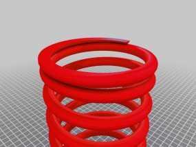 螺旋弹簧 3D模型