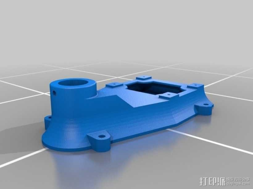 钻床底座 3D模型  图1