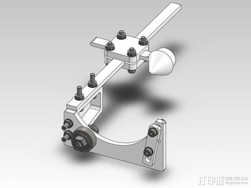 玻璃瓶切削夹具  3D模型  图1