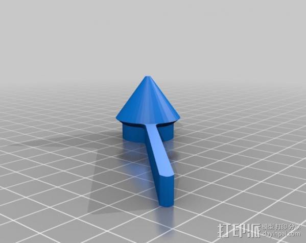 玻璃瓶切削夹具  3D模型  图10