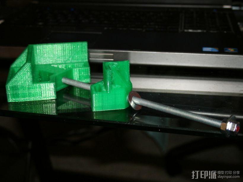 90直角固定夹 3D模型  图1