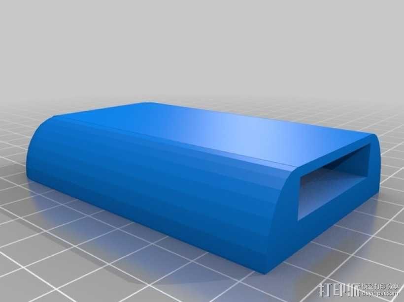 苹果电视 遥控器置放架 3D模型  图2