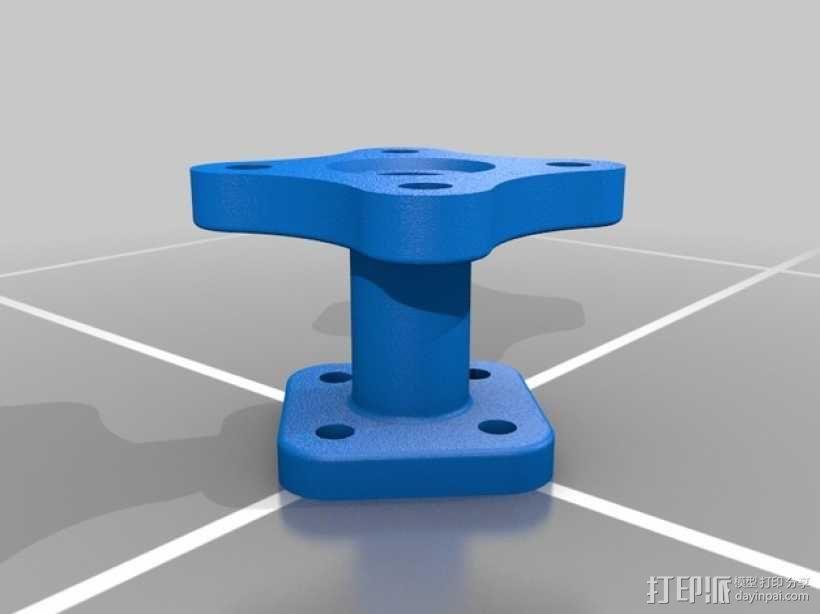 法兰适配器 3D模型  图1