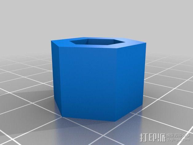 六角螺帽 3D模型  图2