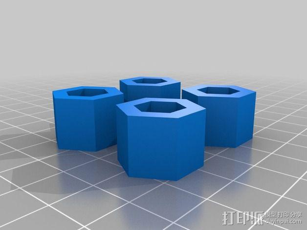 六角螺帽 3D模型  图3