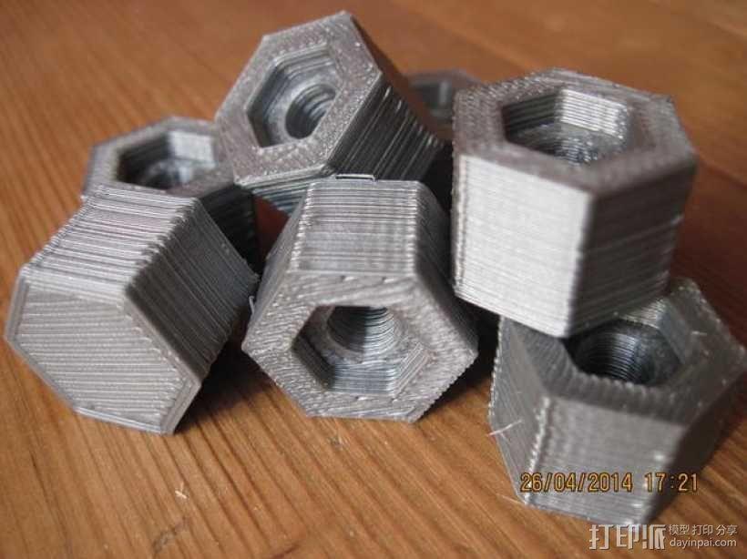 六角螺帽 3D模型  图1