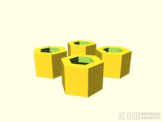 六角螺帽 3D模型  图4