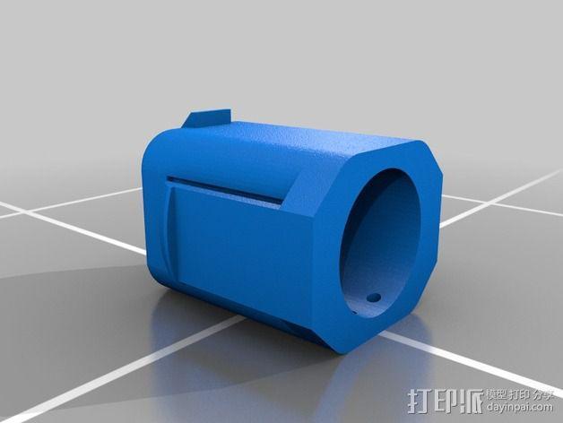 电池配适器 3D模型  图1