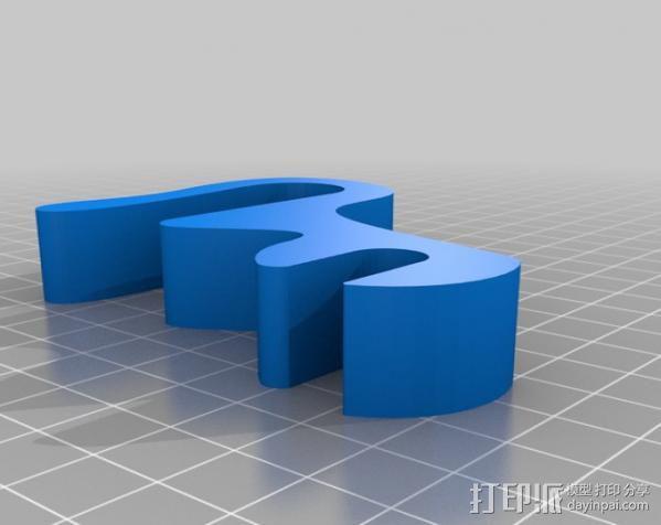线轴固定夹 3D模型  图3