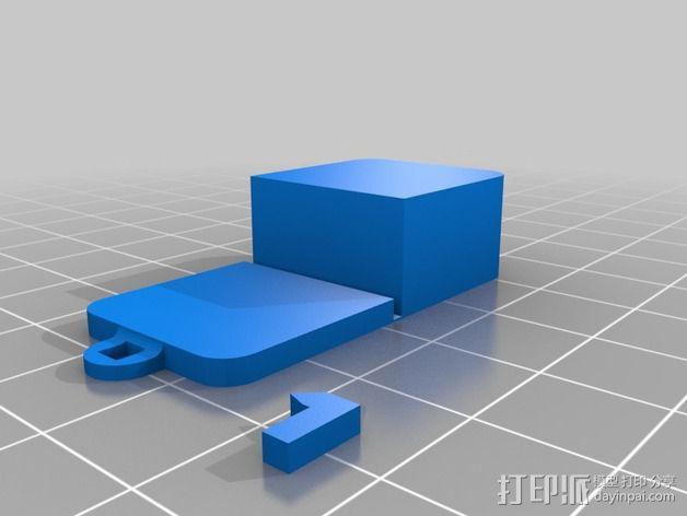 铰链 小盒 3D模型  图2
