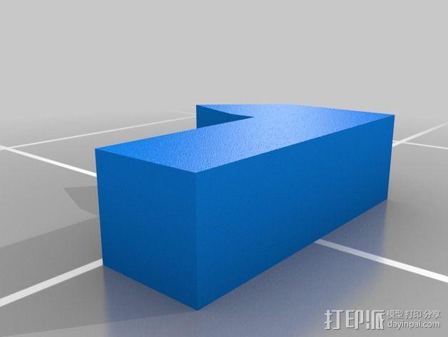 铰链 小盒 3D模型  图3