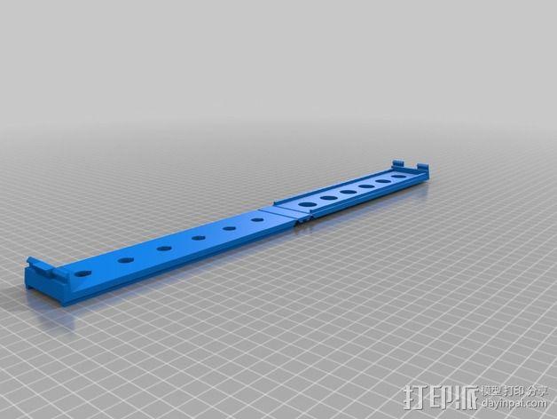 白板笔置放架 3D模型  图2