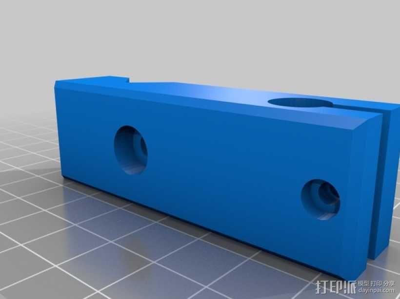 车床千分表固定架 3D模型  图2