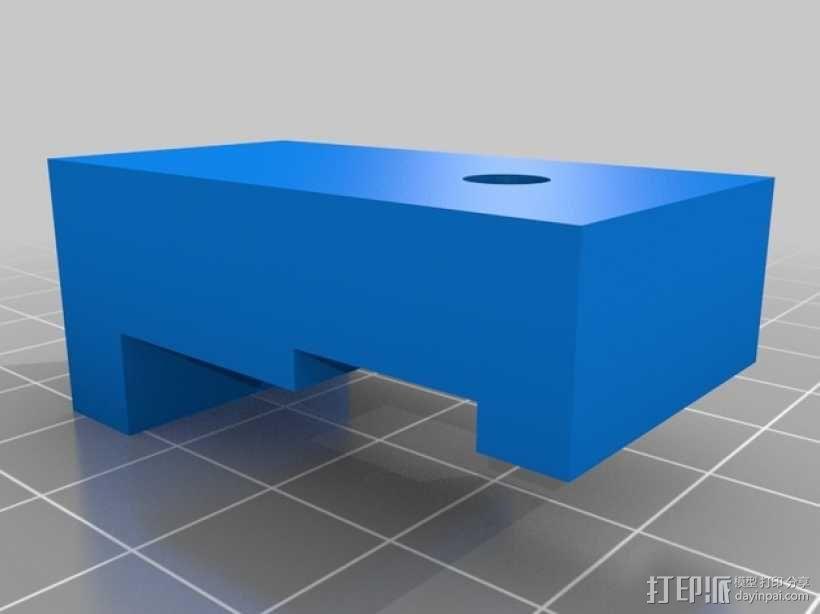 车床千分表固定架 3D模型  图3