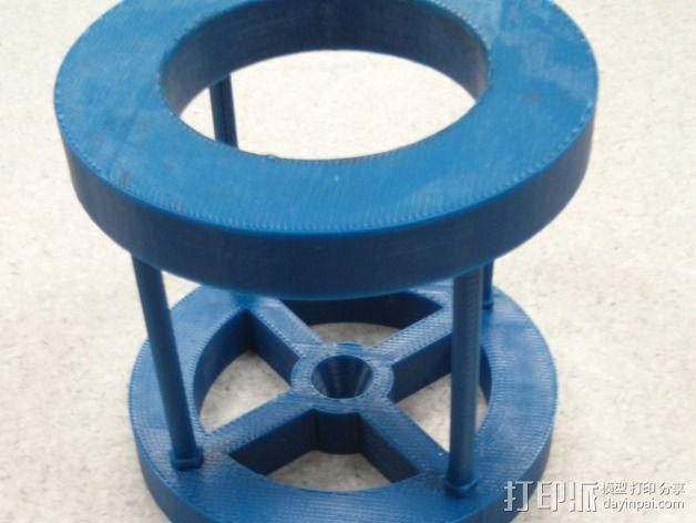 离心管固定架 3D模型  图1
