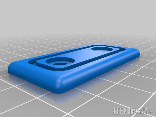 1020端盖 螺丝 3D模型  图3