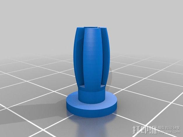 1020端盖 螺丝 3D模型  图2