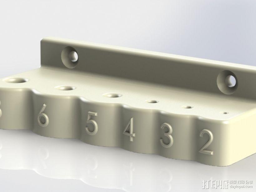 内六角扳手 置放架 3D模型  图1
