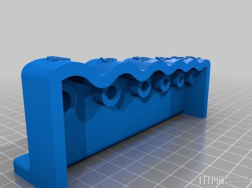 内六角扳手 置放架 3D模型  图2