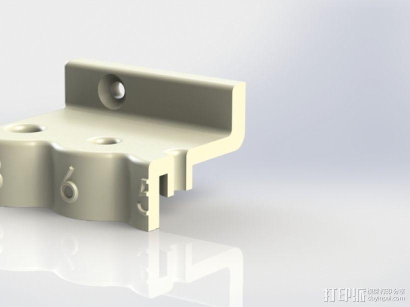 内六角扳手 置放架 3D模型  图3