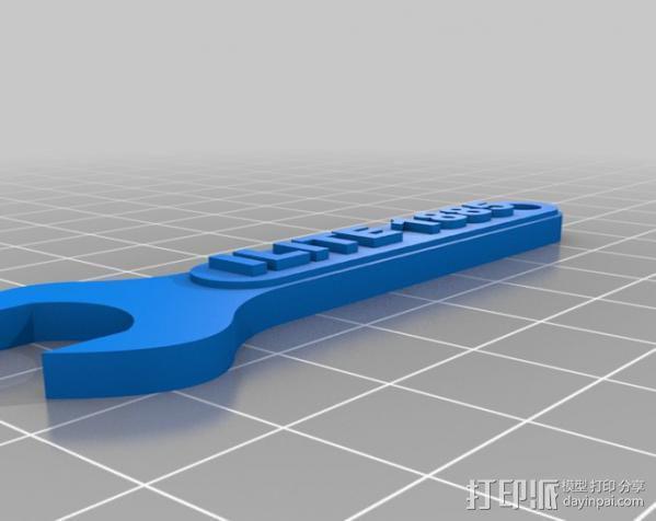 扳手 钥匙扣 3D模型  图1
