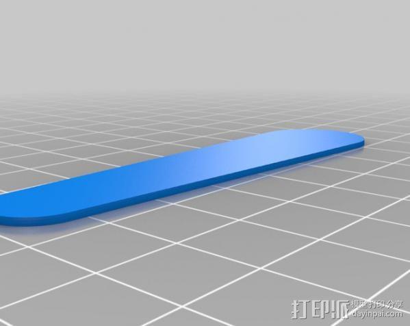 双头量勺 3D模型  图2