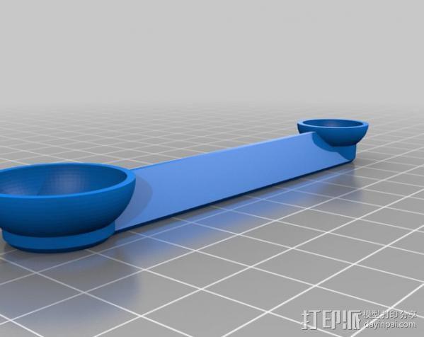双头量勺 3D模型  图3