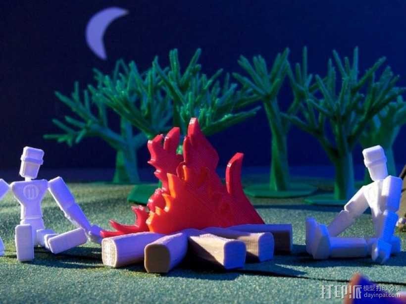 篝火 3D模型  图1